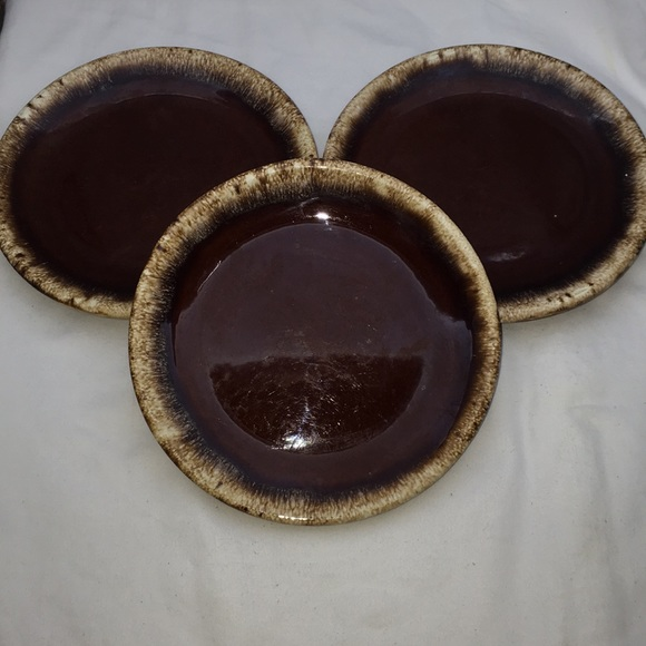 Vintage Other - Vintage Hull Brown Drip Glazed Bread Butter Plate